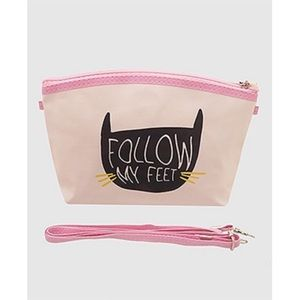 Handbags - Follow My Feet Cat Crossbody cosmetic Pouch Bag.
